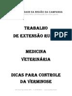 trabalho extensão rural Manejo sanitário