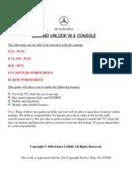 Mercedes Comand Aps Unlock Classe e - Slk - Sl - S- Cls - Ml