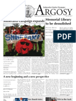 Mount Allison University's The Argosy Student Newspaper September 1, 2011