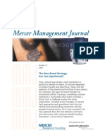 Marketing Branding - Brand Strategy - Are You Experienced (Mercer Management Journal) - 2000