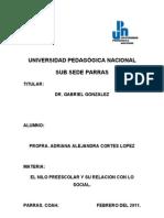 Trabajo Dr Del Preescolar
