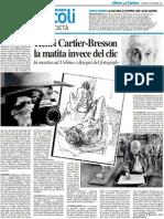 Henri Cartier-Bresson. La matita invece del clic