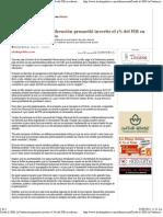 31-08-11 Desde el 2000, la Federación prometió invertir el 1% del PIB en educación y no lo hizo