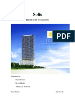 Writing Sample 2 - Real Estate - Seeking Potential Investors - Our Solis Presentation