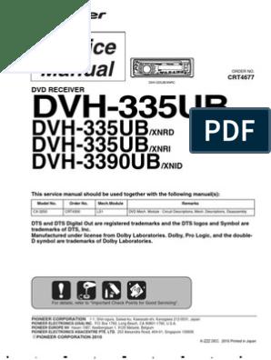 Pioneer Dvh 335u,Dvh 3390ub   Electrical Connector   Laser