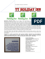 Boycott Holiday Inn and InterContinental Hotels Group, Inc.
