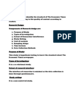 Questionnaire Used for Research