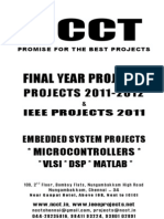 NCCT Embedded Project Titles Embedded Electronics Electrical Power Electronics Power Systems New Project List 2011 2012