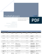 Football Glossary in 8 Languages