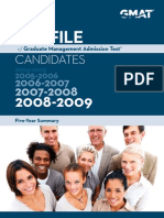 Profile of GMAT Candidates 0509