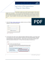 Entering Recommendation Letters Through the Online Editor
