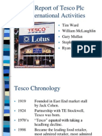 A Report of Tesco Plc International Activities