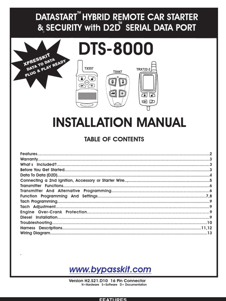 Demarreur A Distance Data Start Relay Manual Transmission Wiring Diagram Remote Car Starter