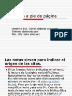 Notas a Pie de Pagina