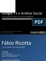 Google + e a Analise Social