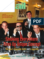 Smoking Everywhere Electronic Cigarette - Specialty Retail Magazine - Front Cover Mall Cart Concept