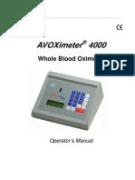 ITC AVOXimeter 4000 Operation Manual En