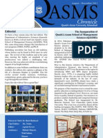 Newsletter QASMS