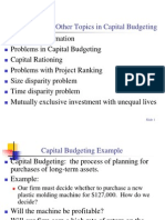 Cash Flows and Other Topics in Capital Budgeting Chap 10