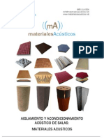 Materiales Acusticos - Manual de to y Acondicionamiento Acustico de Salas
