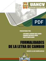 Formalidades de La Letra de Cambio - Titulos Valores (Max Gutierrez Condori)