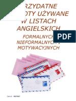 Zwroty używane w listach angielskich