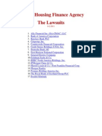 FHFA Lawsuits (1 File)