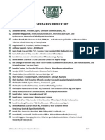 2011 Ivy Sports Symposium Speakers Directory