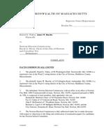 Complaint challenging Newton Election Commission decision