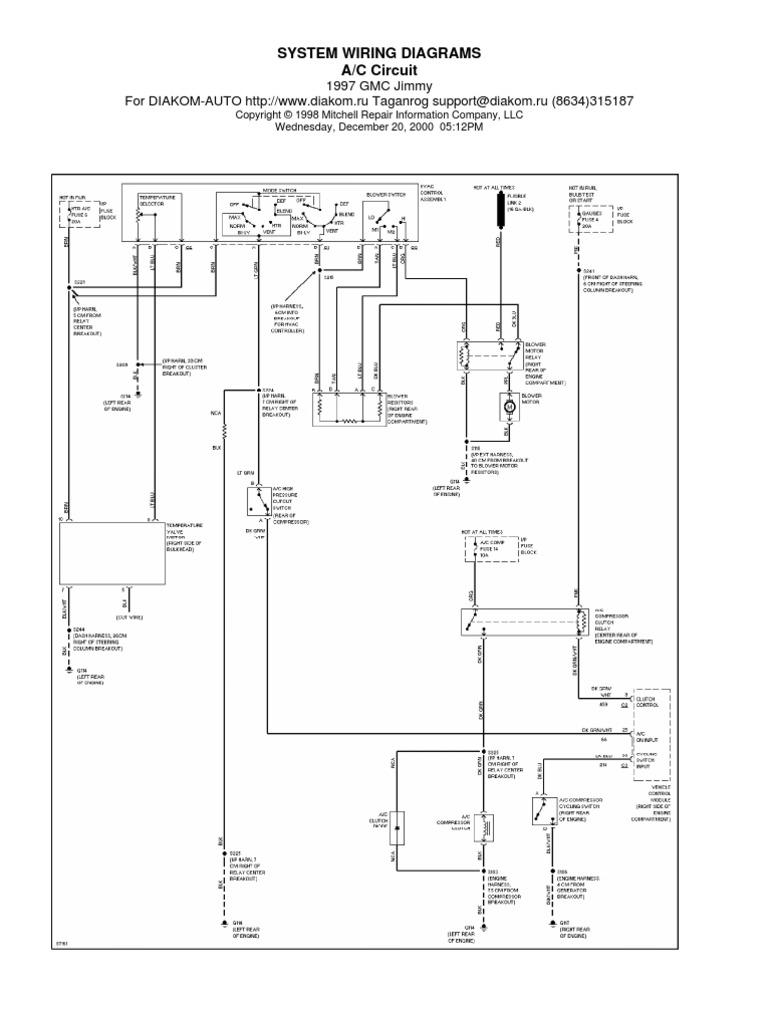 Blazer 97 Electrical Diagram