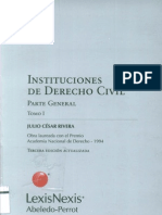 Rivera, Julio Cesar - Instituciones de Derecho Civil Parte General Tomo I