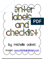 Center Labels and Checklist