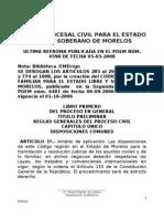 Codigo Procesal Civil Para El Estado de Morelos