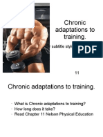 Chronic Adaptations to Training