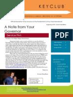 Beginning of School Year CLUB Newsletter (DSM)