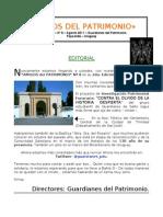 Boletín No. 8 AMIGOS del PATRIMONIO - Agosto