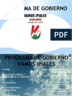 PROGRAMA DE GOBIERNO VAMOS IPIALES