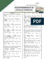 PRÁCTICA N° 15 - 1° - SISTEMA DE NUMERACIÓN