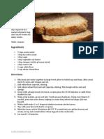 No Knead Wheat Bread
