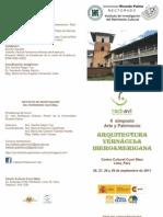 PROGRAMA II SIMPOSIO INTERNACIONAL   ARTE Y ARQUITECTURA, ARQUITECTURA VERNÁCULA IBEROAMERICANA