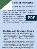 Advantages of Relational Algebra
