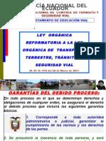 Ley Organica de Reforma a La Ley Organica de Transporte Terrestre Transito y Seguridad Vial