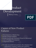 4 New Product Development, Product Testing & Market