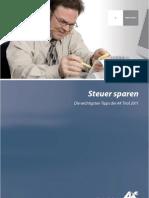 Folder Steuer Sparen 2011