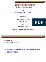 Consti 1-A Legislative Dept