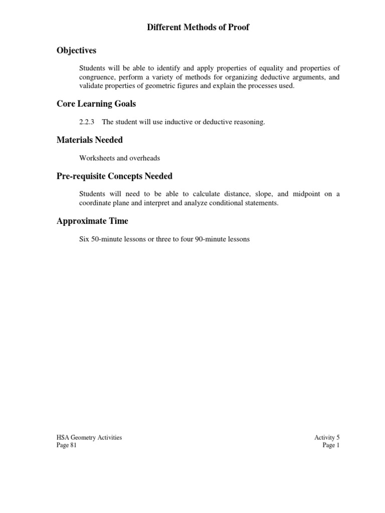 Uncategorized Deductive Reasoning Worksheets clg2activity005 mathematical proof rectangle