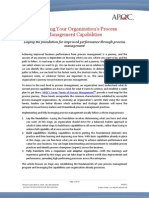 Evaluating Your Organization's Process Management Capabilities