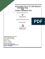 Citrix Server Setup Document Ver 1