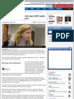Debbie Wasserman Schultz says GOP seeks 'dictatorship … spark panic'