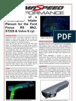 ULTIMATE 5 Cyl Plenum Design Summary